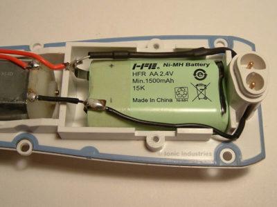 waterpik-wp-450-flosser-remove-battery-clamp
