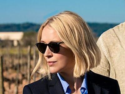 DC Miranda Blake wearing black sunglasses in The Mallorca Files